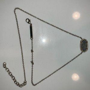 Gold & Gray Elisa Pendant Necklace